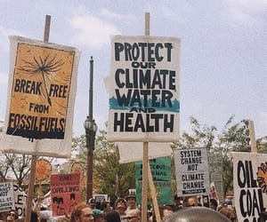 protest, climate change, and march image