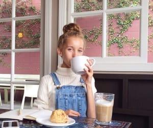 girl, coffee, and tumblr image