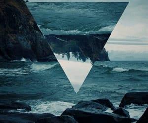 sea, triangle, and ocean image