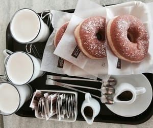 donuts, food, and milk image