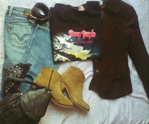 70s, boots, and backpack image
