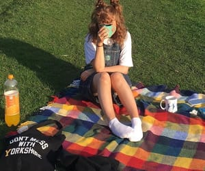 aesthetic, indie, and picnic image