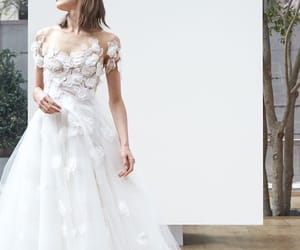 bridal, wedding, and gown image