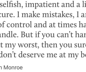 impatient, flaws, and Marilyn Monroe image