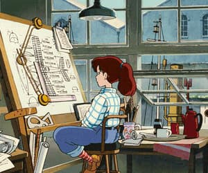 aesthetic, cartoon, and animation image