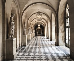aisle, architecture, and art image