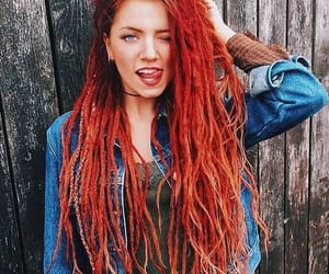 dreadlocks, red dreads, and dreads image