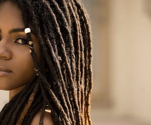 beauty, black women, and dreads image