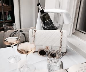 chanel, drink, and bag image