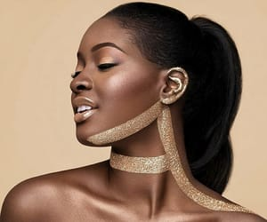 black beauty, black girl, and gold image