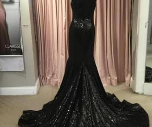 evening dress, formal dress, and black prom dress image