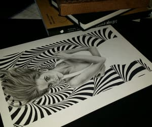 drawing, illusion, and ink drawing image