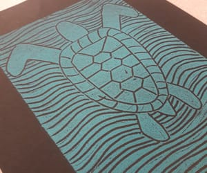 art, blue, and seaturtle image