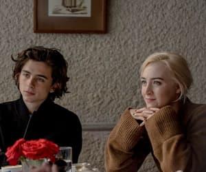 Saoirse Ronan, timothee chalamet, and ladybird image