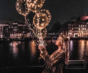 light, balloons, and beautiful image