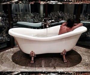 girl, bath, and luxury image