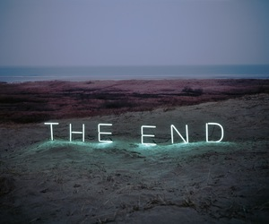 the end, end, and light image
