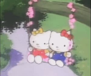 aesthetic, cartoon, and hello kitty image