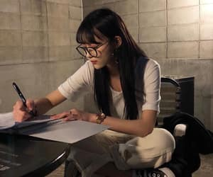 asian, glasses, and homework image
