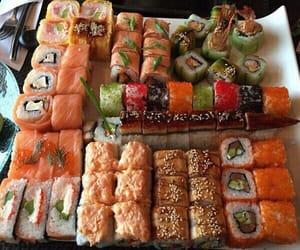 sushi, food, and eat image