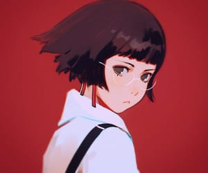 short hair and cute image