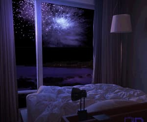 gif, fireworks, and bed image