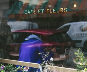 cafe, fashion, and flowers image