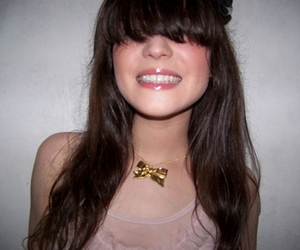 bangs, hair, and smile image