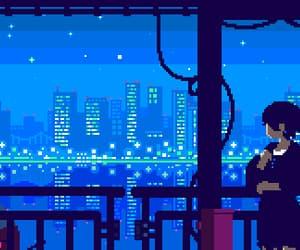 gif, night, and pixel image