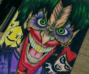 artist, batman, and joker image