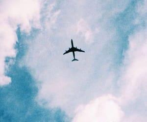 sky, blue, and plane image