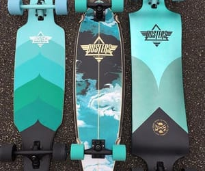blue, longboard, and deck image