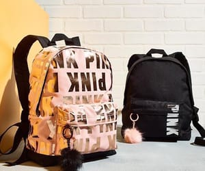 backpack, girls, and pink image
