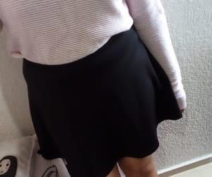 black, スカート, and chic image
