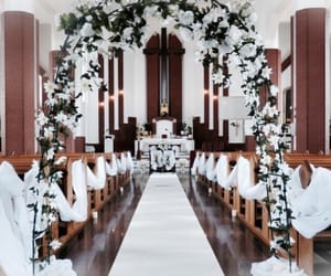 bridal, church, and decor image