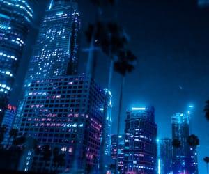 blue, city, and night image