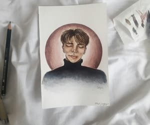 boy, watercolor, and restinpeace image
