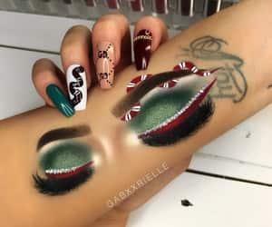 green, gucci, and makeup image