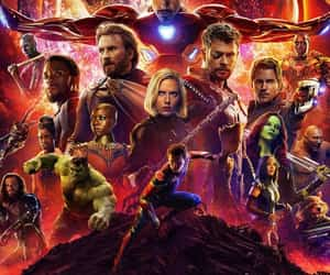 thanos, Avengers, and spiderman image