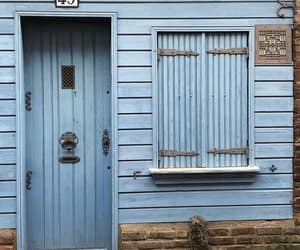 baby blue, blue, and doors image