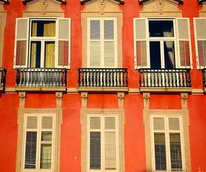 facade, orange, and windows image