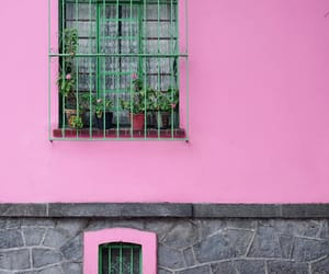 facade, pink, and windows image