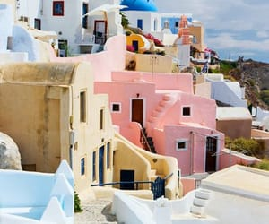 Greece, travel, and pink image