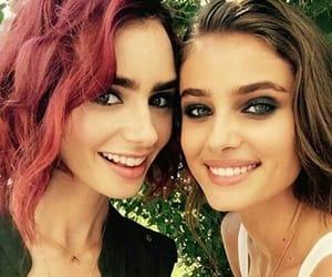 beauties, eyes, and pink hair image
