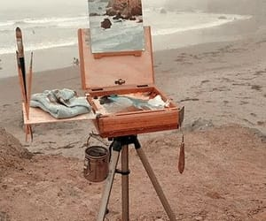 art, painting, and beach image