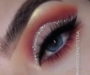 glitter, make up, and cut crease image