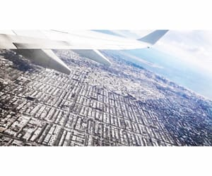 airplane, fly, and nyc image