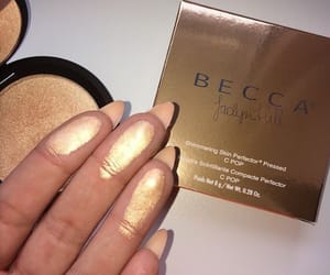 gold, beauty, and cosmetics image