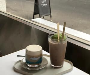coffee, cafe, and drinks image