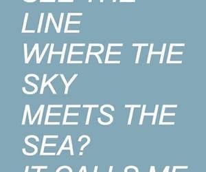 blue, Lyrics, and ocean image